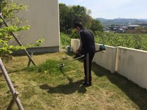 朝倉モデルハウスのお掃除!